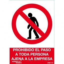 SEÑAL 1033 PROHIBIDO PASO...
